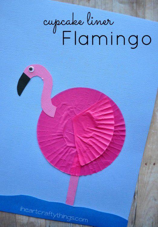 Cupcake Liner Flamingo