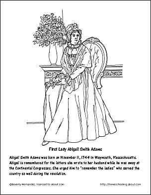 abigail adams coloring pages - photo#6