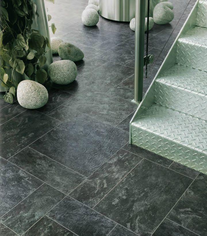 Dark Slate Luxury Vinyl Tile Flooring