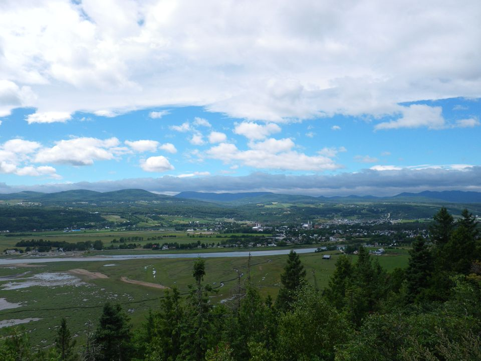 View of Baie-Saint-Paul in Charlevoix, Quebec, about an hour and a half east of Quebec City.
