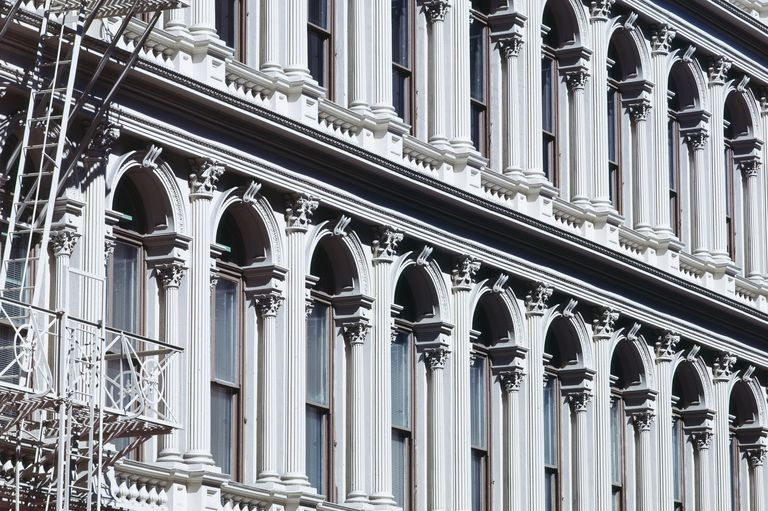 Cast-Iron Facade Detail of the Haughwout Building in New York