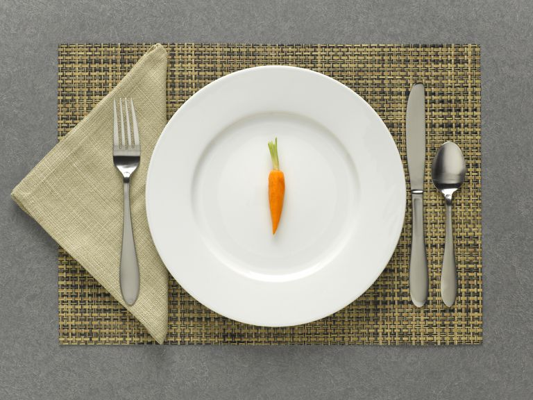 Carrot on a plate
