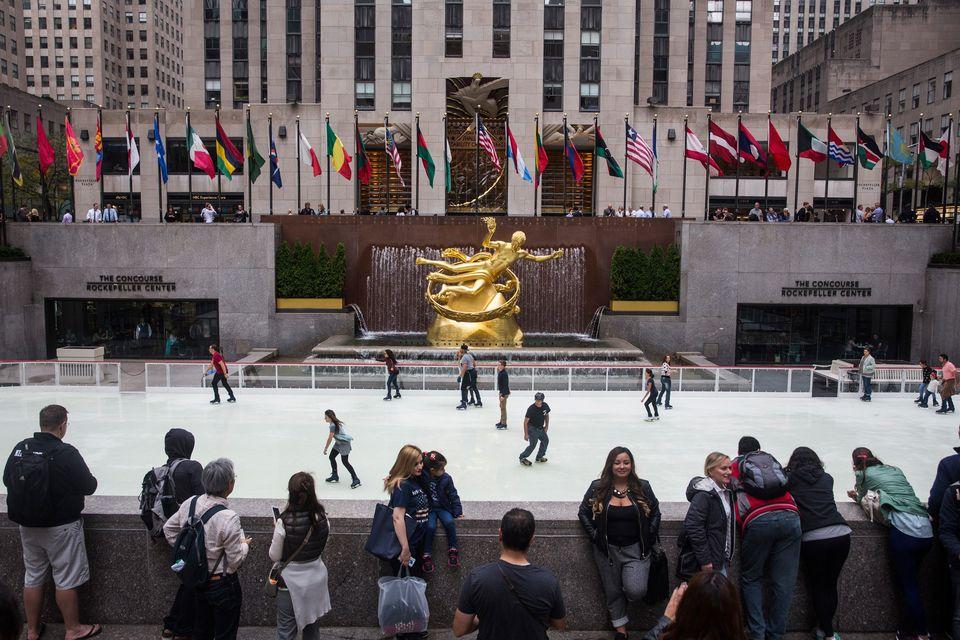 New York's Rockefeller Center Ice Rink Opens For Winter Season
