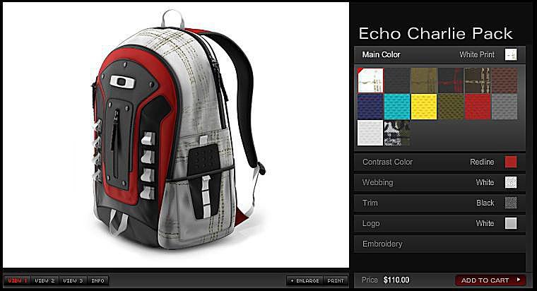Oakley Echo Charlie - Custom Backpack Laptop Bag