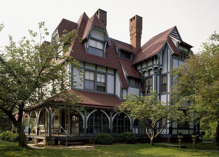 emlen physick house 1878 stick style by architect frank furness cape - Images House Plans 1890 S