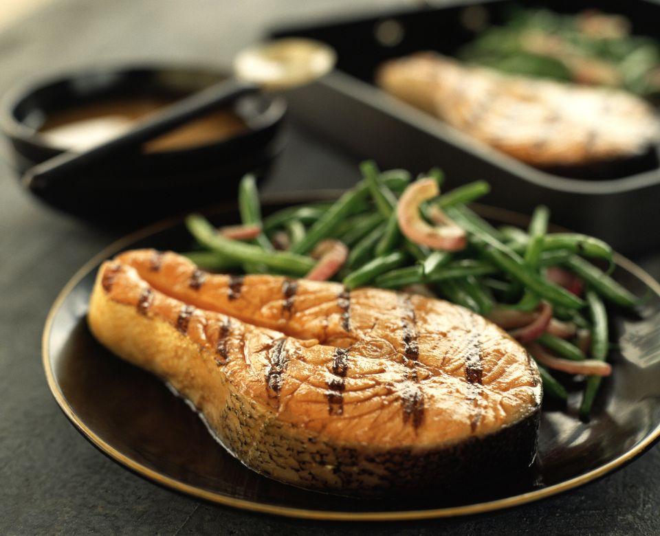Dill Salmon Steaks