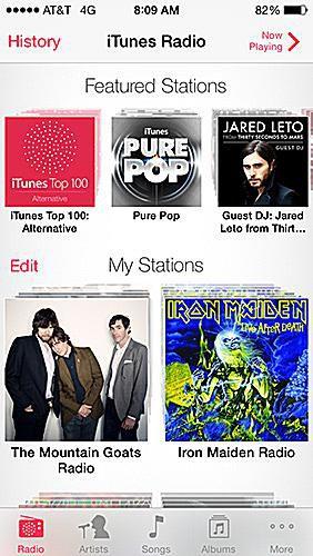 using itunes radio in iOS