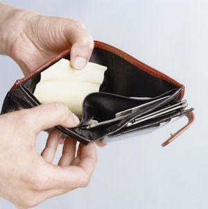 Hands Holding Open Wallet