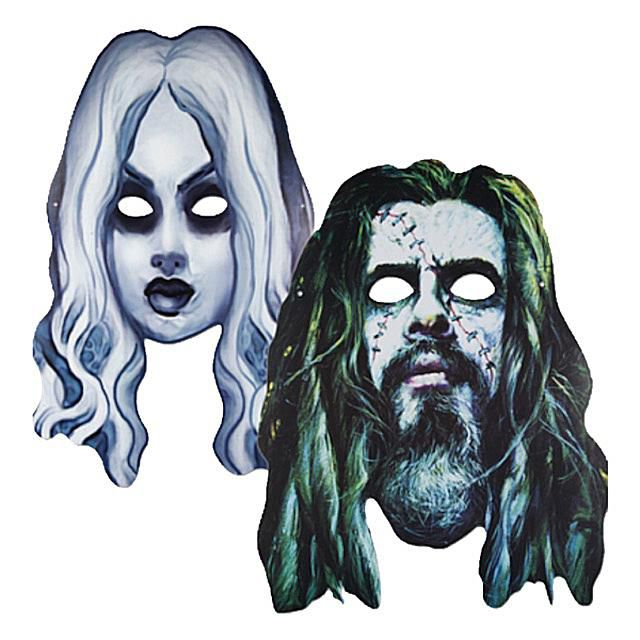 Rob Zombie Cardboard Halloween Masks