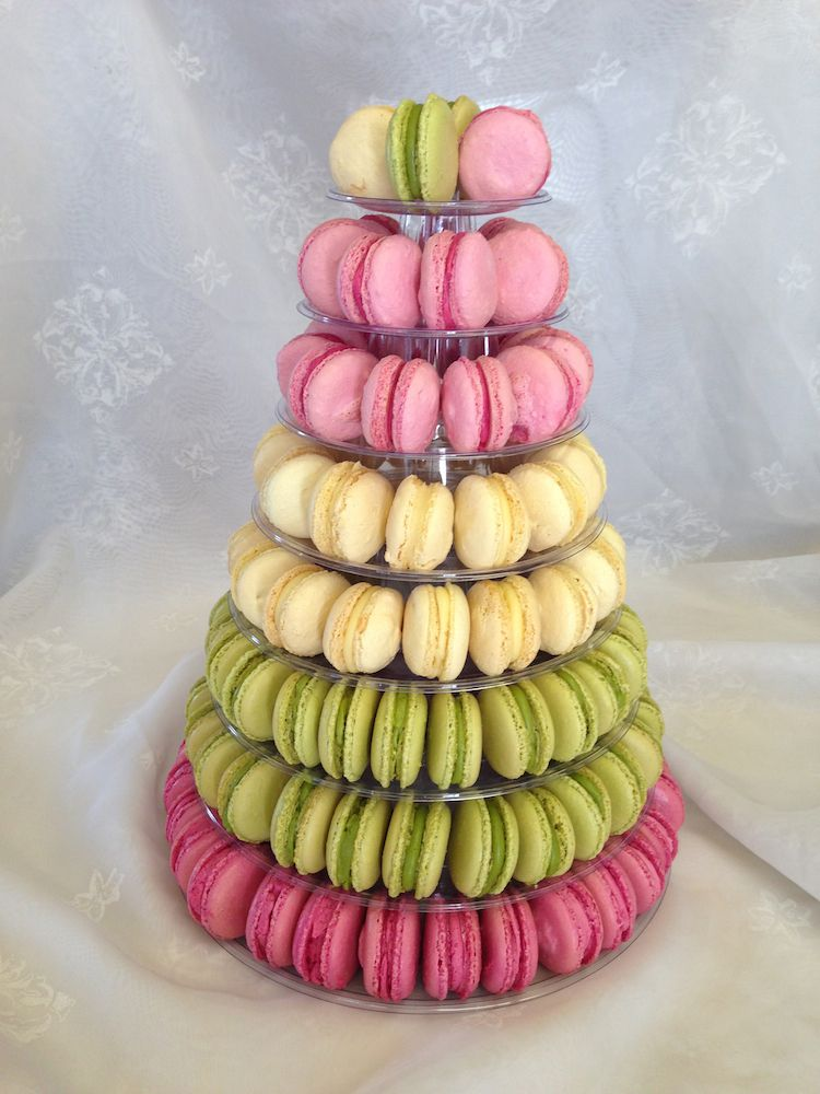 Birthday Cake With Macaroons On Top