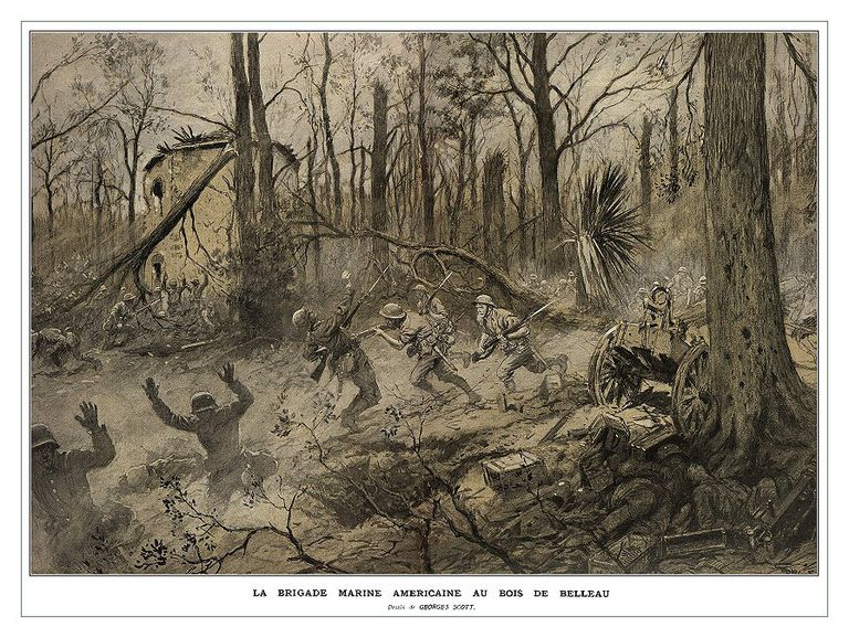 Fighting in Belleau Wood