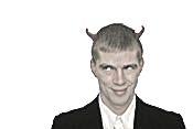 Real Estate Agent With Devil Horns