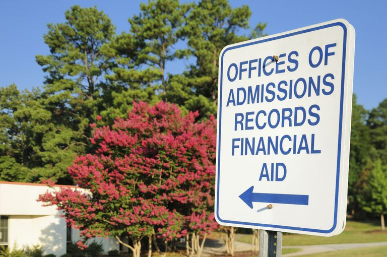 Admissions and Financial Aid Sign