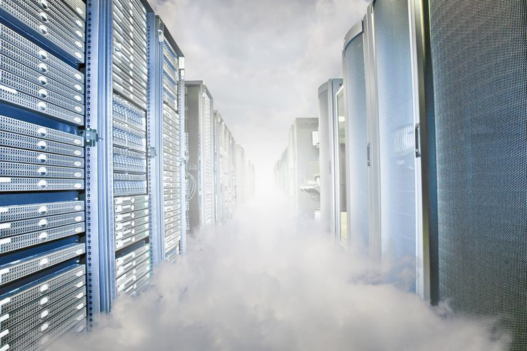 Cloudy server room