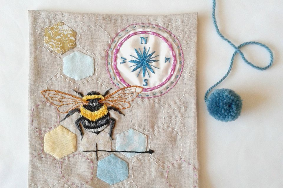 10 Bee and Honeycomb Themed Hand Embroidery Patterns