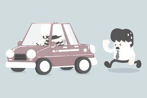 Car theft illustration