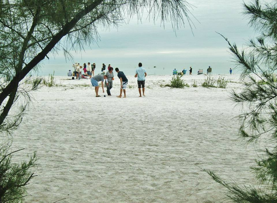 The beach at Fort DeSoto.