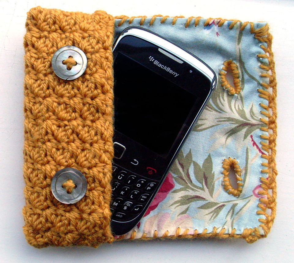 Lined Crochet Cell Phone Case Free Pattern