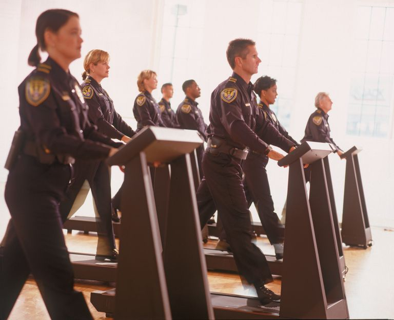 Police Officers Exercising