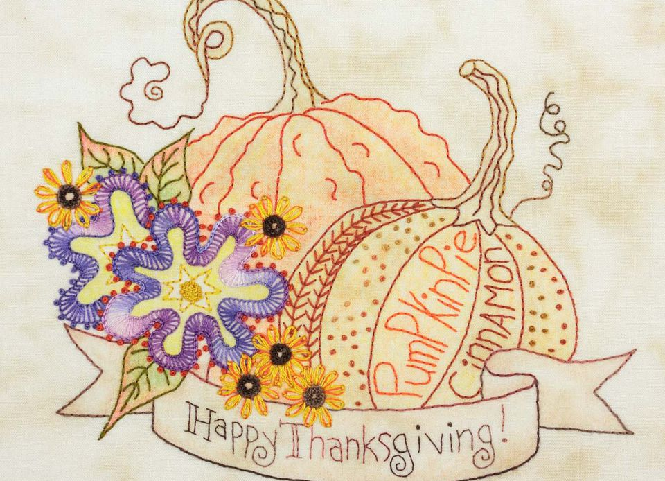 Happy Thanksgiving Hand Embroidery Pattern