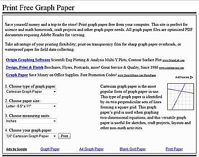 free graph paper printables