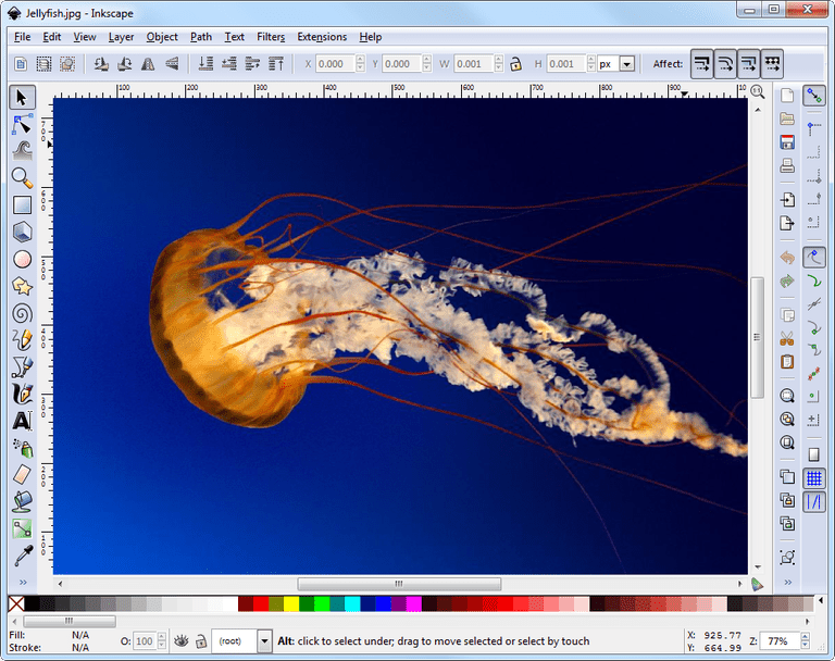 Screenshot of Inkscape in Windows 7
