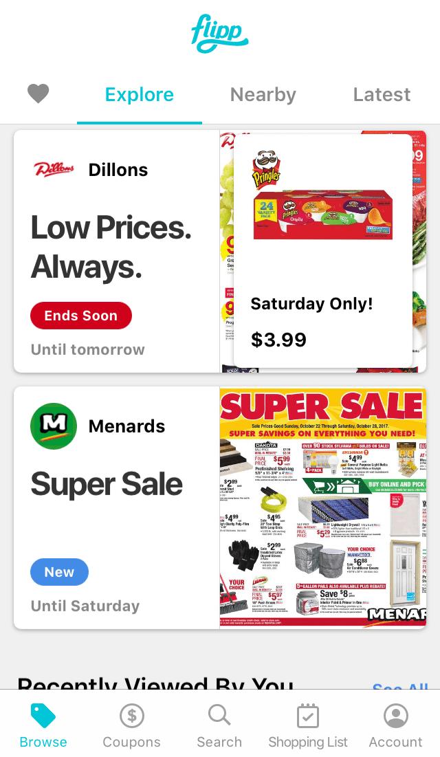 Screenshot of the Flipp iPhone app