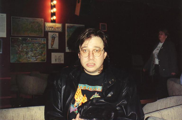 Bill Hicks at the Laff Stop in Austin, Texas, 1991.