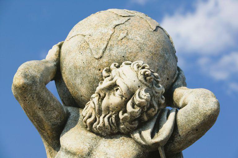 Statue of Atlas, Kokolata, Kefalonia, Ionian Islands, Greece