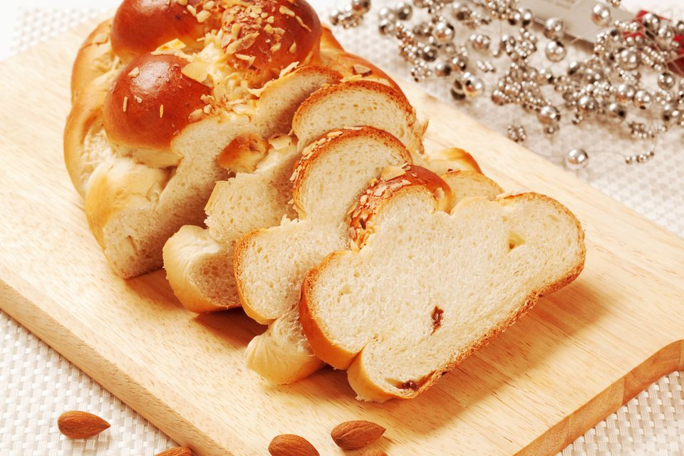 Sweet braided challah bread