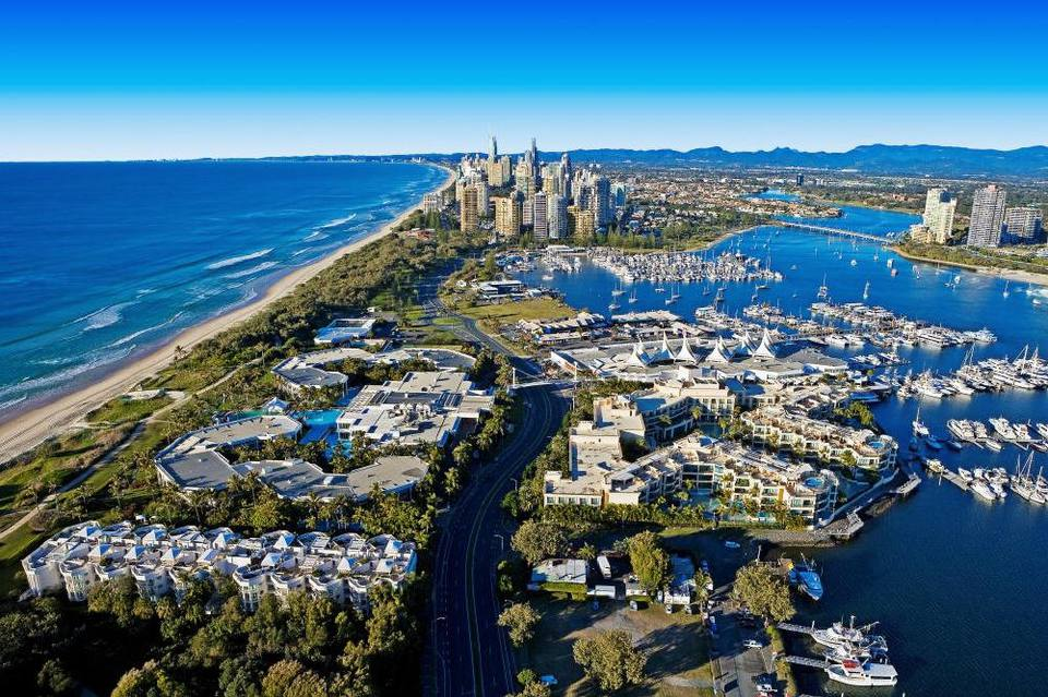 Australia, Gold Coast, aerial. Photo courtesy of Gold Coast Tourism.