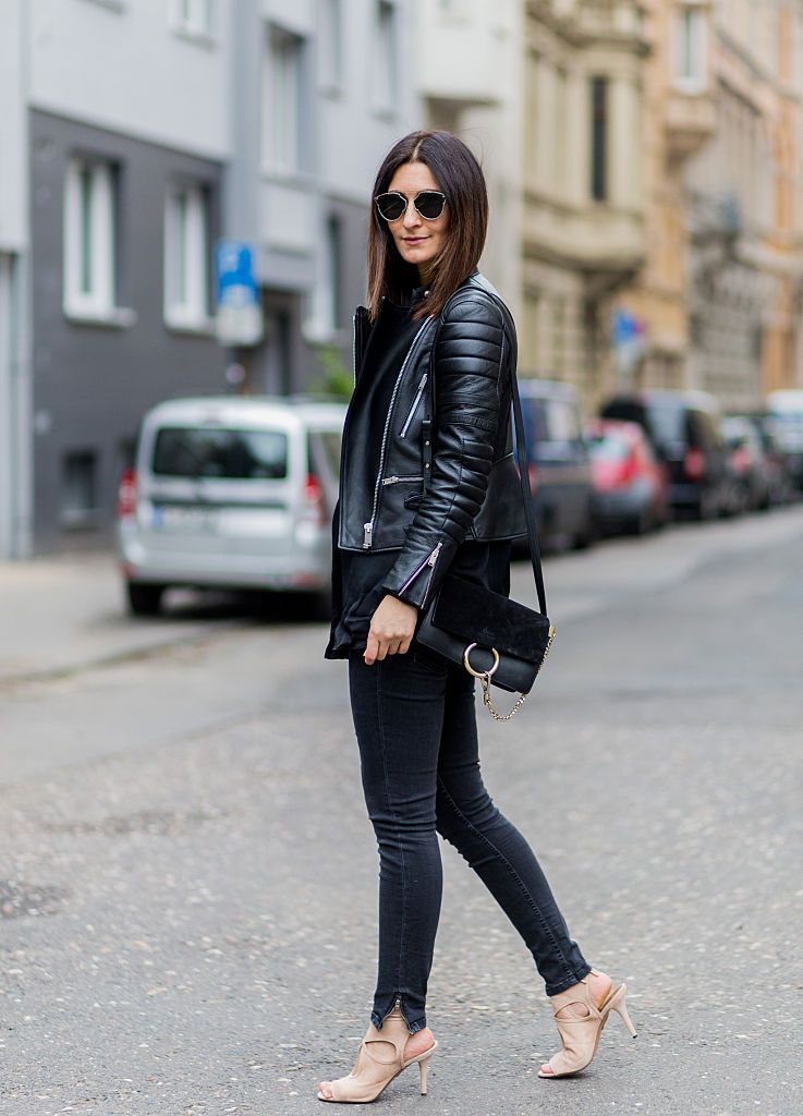 28 Easy, Chic Ways to Wear Jeans and a Leather Jacket