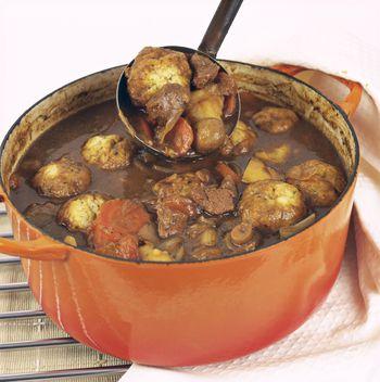 Crockpot Beef Stew With Herb Dumplings