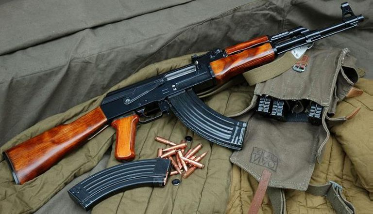 Travel safety in Asia / AK-47