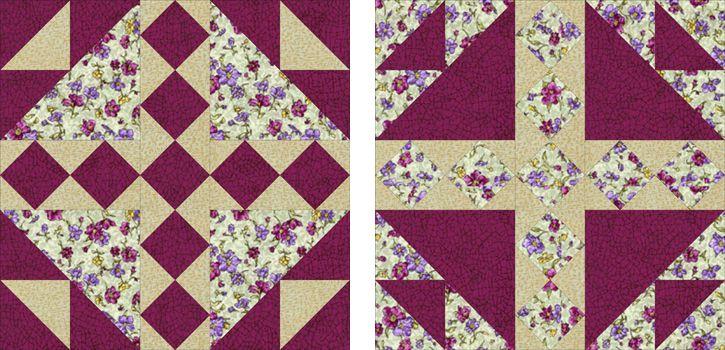 Bird's Nest Quilt Block Pattern