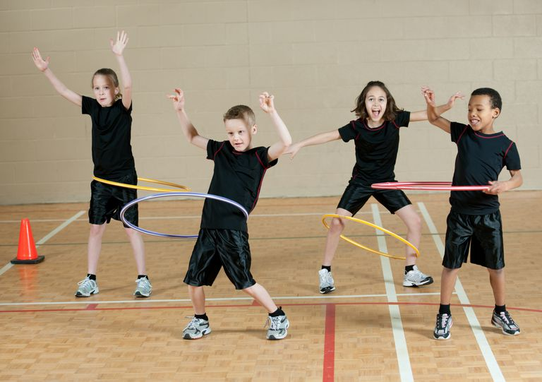 school age physical activities - hula hoop