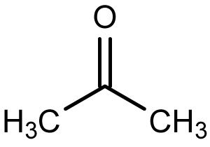 This is the chemical structure of the ketone acetone.