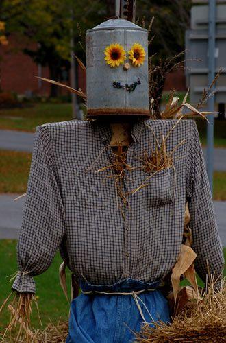 Metalhead scarecrow photo: Make a metalhead scarecrow for your favorite heavy metal music fan.