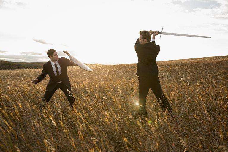 Men in Suits, Sword Fighting
