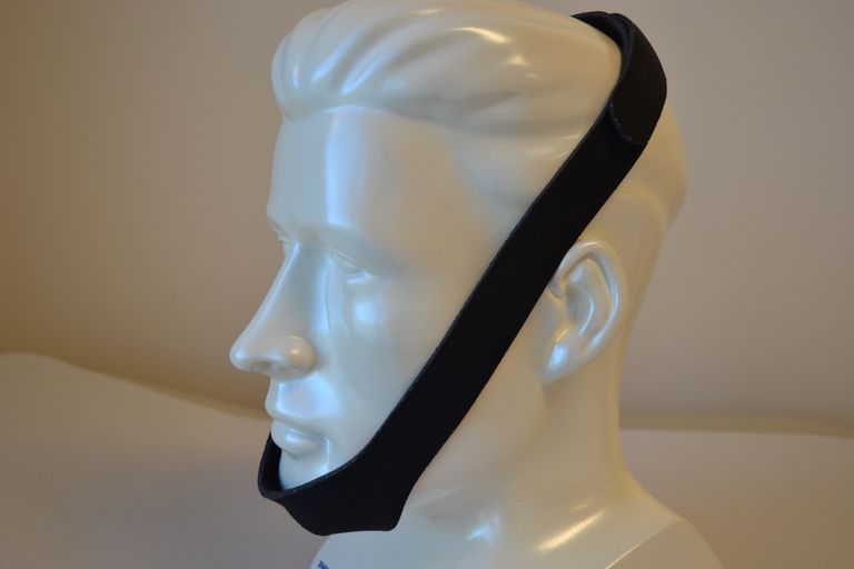A simple chinstrap may be used with a nasal mask to keep your mouth closed when using CPAP therapy