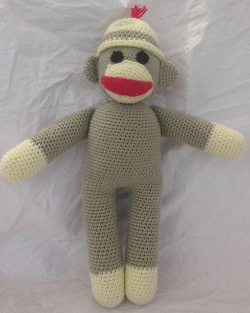 Sock Monkey Stuffed Animal Free Crochet Pattern