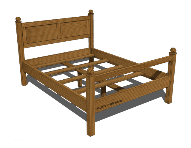 picture of queen bed frame - Wooden Queen Bed Frame
