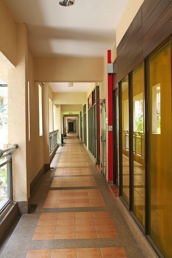 brick hallway floors