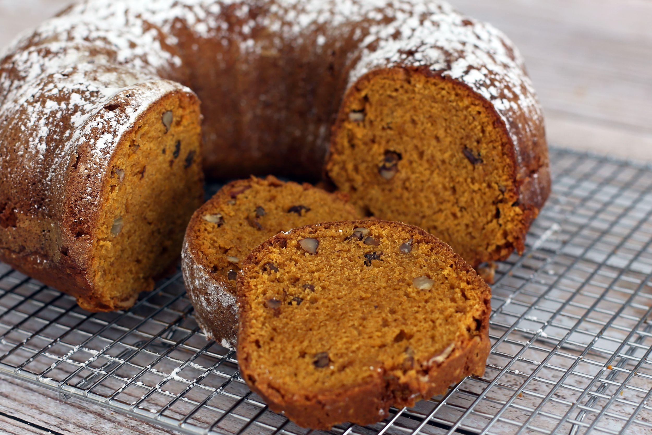 Spiced Pumpkin Bread With Walnuts And Raisins