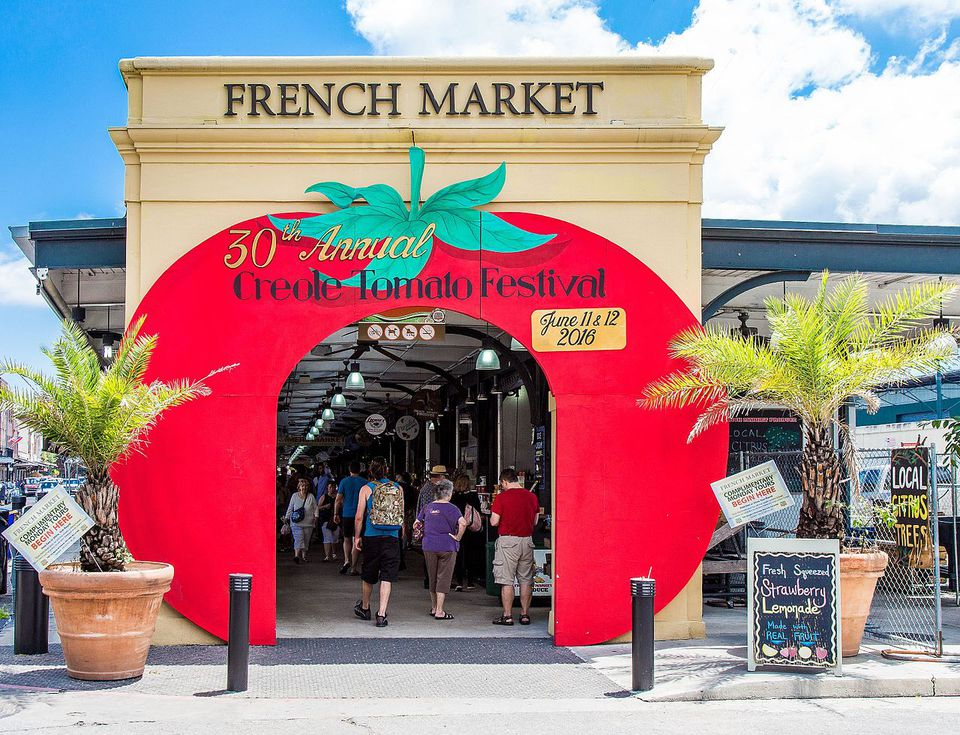 The French Market in New Orleans.