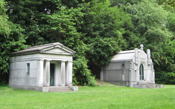 Stately Mausoleums at Akron's Glendale Cemetery