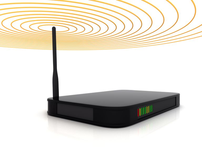 Wireless Router Showing Signal Beams