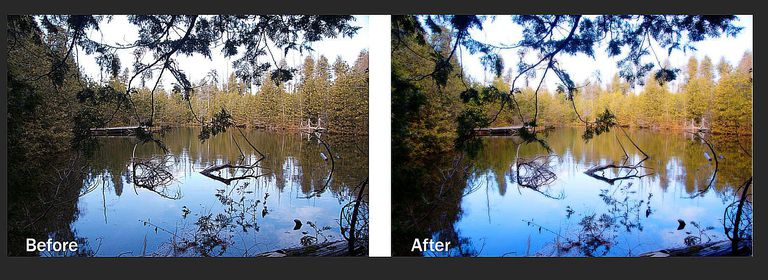 The before and After versions of the project are shown.