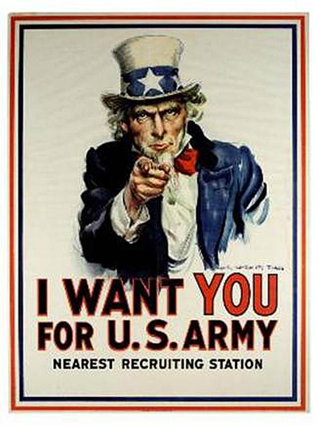 Original Uncle Sam I Want You Poster