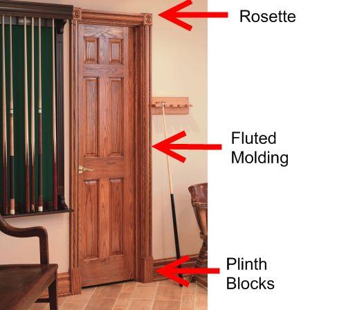 Door Trim Ideas - Rosette Plinth Casing